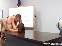 Horny high school hottie gets fucked by her teacher